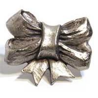 Emenee MK1051ABR, Knob, Ribbon, Antique Matte Brass