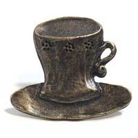 Emenee MK1053ACO, Knob, Cup &  Saucer, Antique Matte Copper