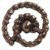 Emenee MK1065ABR, Knob, Spinal Cord, Antique Matte Brass