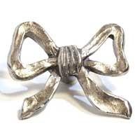 Emenee MK1071ABR, Knob, Bow, Antique Matte Brass