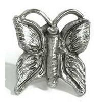 Emenee MK1099AMS, Knob, Butterfly, Antique Matte Silver