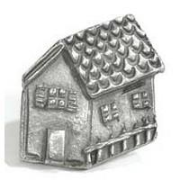 Emenee MK1105ABR, Knob, House, Antique Matte Brass
