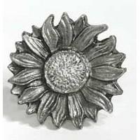 Emenee MK1107ABR, Knob, Sunflower, Antique Matte Brass