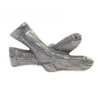 Emenee MK1110AMS, Knob, Socks, Antique Matte Silver
