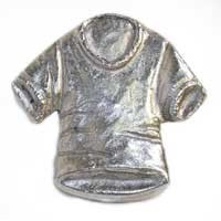 Emenee MK1115AMS, Knob, T-Shirt, Antique Matte Silver