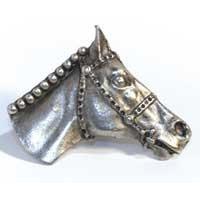 Emenee MK1127ABB, Knob, Horse Head, Antique Bright Brass