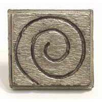 Emenee MK1138ACO, Knob, Swirly Square, Antique Matte Copper