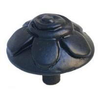Emenee MK1140ABR, Knob, Flower On Dome, Antique Matte Brass