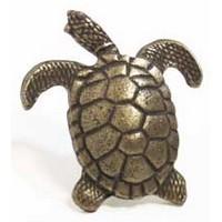 Emenee MK1150ABB, Knob, Turtle, Antique Bright Brass