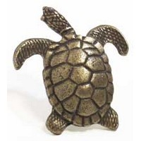 Emenee MK1150AMS, Knob, Turtle, Antique Matte Silver