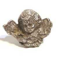 Emenee MK1153ABR, Knob, Angel, Antique Matte Brass