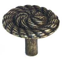Emenee MK1168ABB, Knob, Rope Swirl, Antique Bright Brass