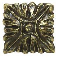 Emenee MK1179ABB, Knob, Acanthus, Antique Bright Brass
