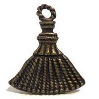 Emenee MK1191ABR, Knob, Tassle, Antique Matte Brass