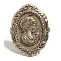 Emenee MK1192ACO, Knob, Cameo, Antique Matte Copper