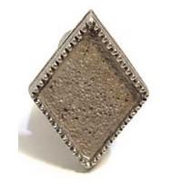 Emenee MK1205ACO, Knob, Diamond, Antique Matte Copper