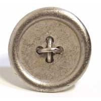 Emenee MK1210ABR, Knob, Large Button, Antique Matte Brass