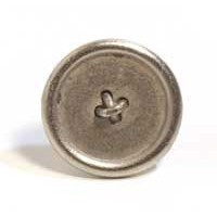 Emenee MK1211AMS, Knob, Small Button, Antique Matte Silver