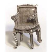 Emenee MK1212AMS, Knob, Chair, Antique Matte Silver