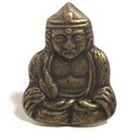 Emenee MK1216ABB, Knob, Buddah, Antique Bright Brass