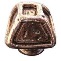 Emenee MK1243ABC, Knob, Square Forged, Antique Bright Copper