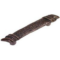 Emenee OR128ABR, Handle, Stipple, Antique Matte Brass