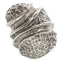 Emenee OR129ABR, Knob, Stipple Knot, Antique Matte Brass