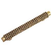 Emenee OR191ABB, Handle, Rope On Bar, Antique Bright Brass