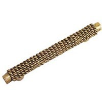 Emenee OR191ABR, Handle, Rope On Bar, Antique Matte Brass