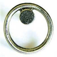 Emenee OR199AMS, Knob, Circle, Antique Matte Silver