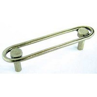 Emenee OR218ABB, Handle, Racetrack, Antique Bright Brass