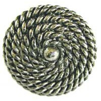 Emenee OR289ABS, Knob, Rope, Antique Bright Silver
