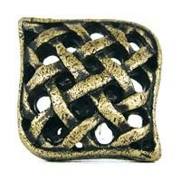 Emenee OR104ABR, Knob, Small Crosshatch, Antique Matte Brass