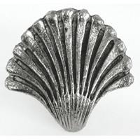 Emenee OR113AMS, Knob, Seashell Fan, Antique Matte Silver