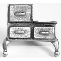 Emenee OR147ABS, Knob, Antique Stove, Antique Bright Silver