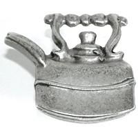 Emenee OR151ABB, Knob, Tea Pot, Antique Bright Brass