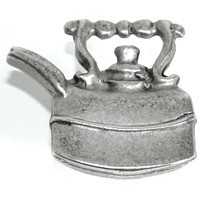 Emenee OR151ABS, Knob, Tea Pot, Antique Bright Silver