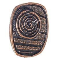 Emenee OR192AMG, Knob, Swirl Design, Antique Matte Gold