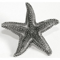 Emenee OR208AMS, Knob, Starfish, Antique Matte Silver