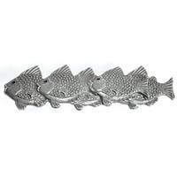 Emenee OR219ACO, Pull, School Of Fish (L), Antique Matte Copper