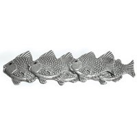 Emenee OR219ABB, Pull, School Of Fish (L), Antique Bright Brass