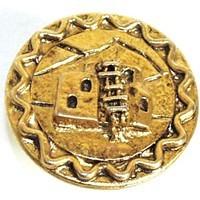 Emenee OR220ABB, Knob, Adobe House, Antique Bright Brass