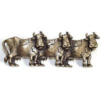 Emenee OR252ACO, Pull, 3 Cows (R), Antique Matte Copper