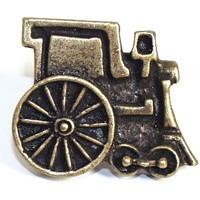 Emenee OR257ABS, Knob, Train, Antique Bright Silver