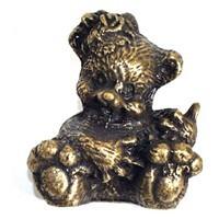 Emenee OR259AMS, Knob, Bear, Antique Matte Silver