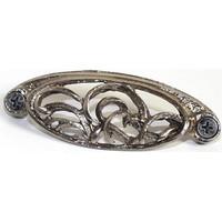 Emenee OR280ABS, Pull, Elegant Bin, Antique Bright Silver