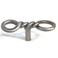 Emenee OR297AMS, Knob, Twisted Wire, Antique Matte Silver