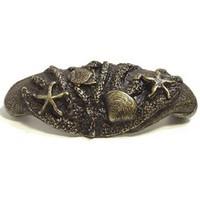 Emenee OR304ABR, Pull, Sea Life Bin, Antique Matte Brass