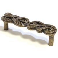 Emenee OR309ABR, Pull, Braided, Antique Matte Brass