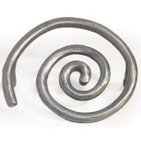 Emenee OR322ABS, Pull, Solid Swirl, Antique Bright Silver